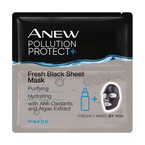 Anew Pollution Protect+ Masque en Feuille Frais Noir 1358724 3 masks