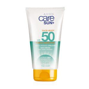 Avon Care Sun+ Pure et Sensible Crème Solaire Corps et Visage SPF50 150ml 94797