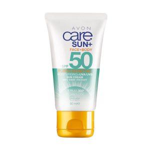 Avon Care Sun+ Pure et Sensible Crème Solaire Corps et Visage SPF50 50ml 11922