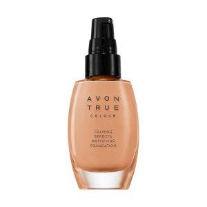 Avon True Calming Effects Fond de teint matifiant Almond 35190 30ml