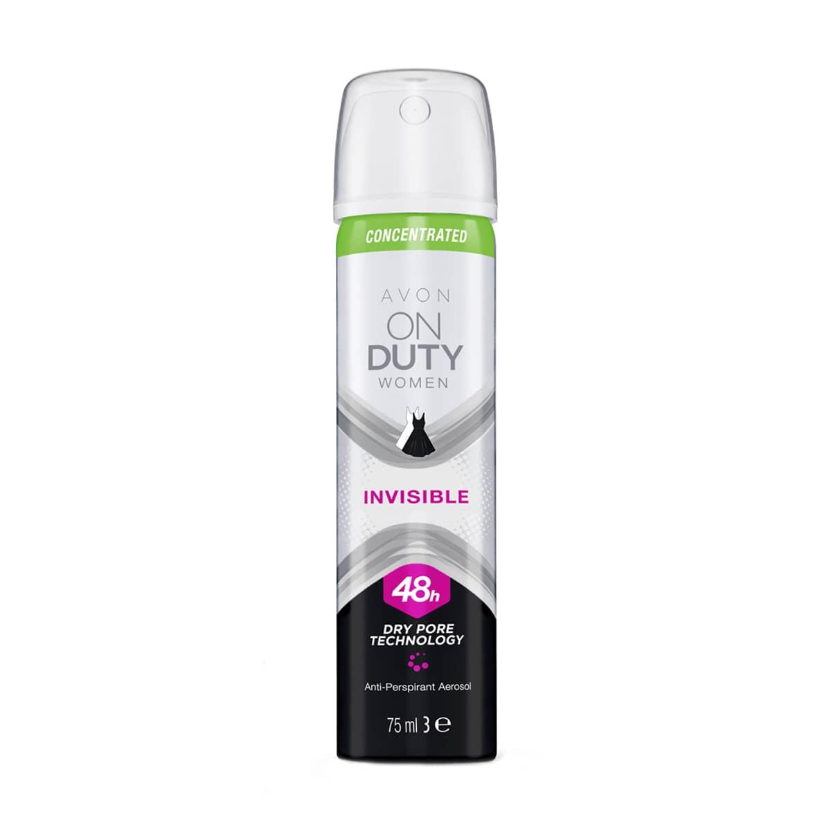 On Duty Invisible Déodorant Anti-Transpirant en Vaporisateur pour Elle 1338881 75ml